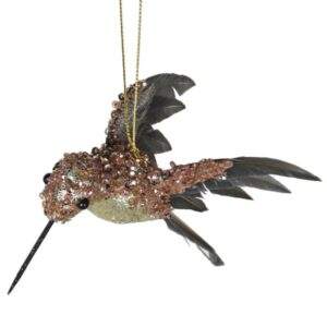 Champagne Glitter Bird Tree Decoration